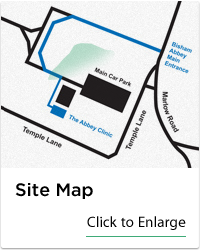 Abbey Clinic Site Map